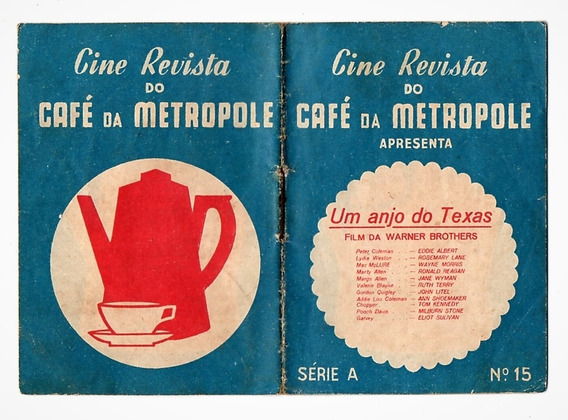 Cine Revista Café Da Metropole Nº 15 - Eddie Albert Anos 40