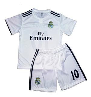 Conjunto Camiseta Short Bebe Niño Real Madrid Personalizado