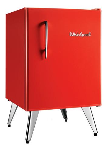 Heladera a gas minibar Whirlpool WRA09 roja 76L 220V