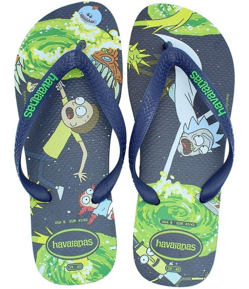 Chinelo Masculino Havaianas Rick And Morty, Original