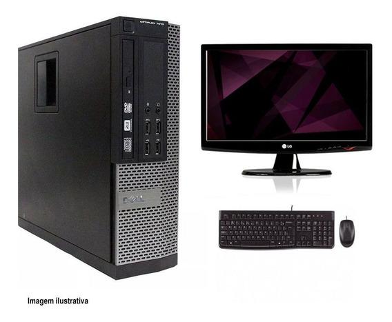 Computador Desktop Dell 7010 I5 4gb 120ssd Monitor 19