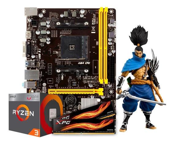 Kit Gamer Amd Ryzen 3 2200g + A320m + 8gb 2666mhz