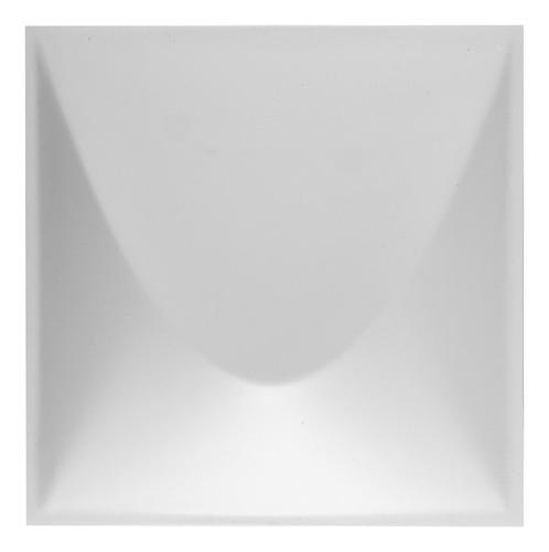 Imagem 1 de 3 de Revestimento Plástico 3d Duna 1m² - 16 Placas Branca Astra