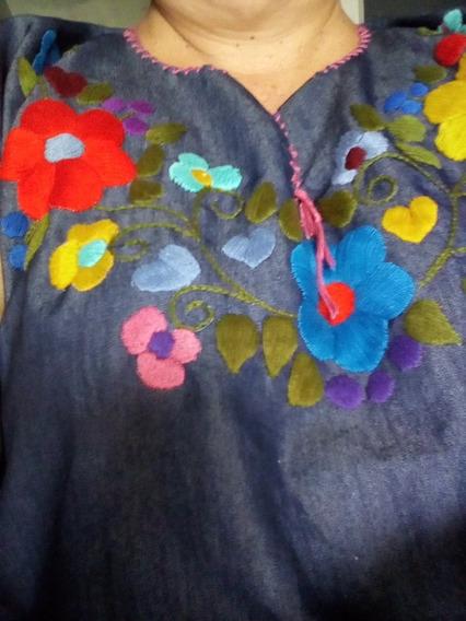12 Blusas Bordadas A Mano ,manta De Colores Por Solo 2600 Pe