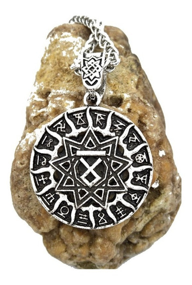 Colar - Viking Vegvisir - Colar - Runas - Odin