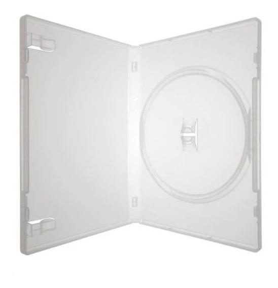 100 Estojo Dvd Amaray Transparente Ou Preto