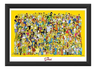 Quadro Simpson Homer Poster Todos Personagens Desenho 45x60