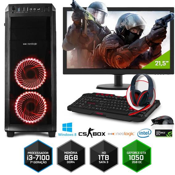 Pc Gamer Neologic Cs Box Nli7034 I3 8gb (gtx 1050)1tb+ W 8