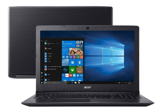 Notebook Intel® Core I5-8250u Acer 4gb De Memória Ram 128 Ssd M2 + 2 Tera Tela 15,6 Windows 10 + Office Pronto Para Uso