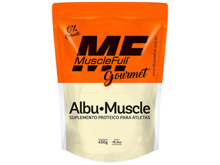 Albu Muscle - Albumina Pura Com Sabor - 450g - Muscle Full