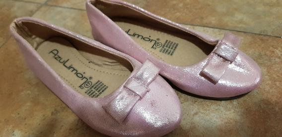 Ballerinas Importadas Rosas Con Moño Talle 25
