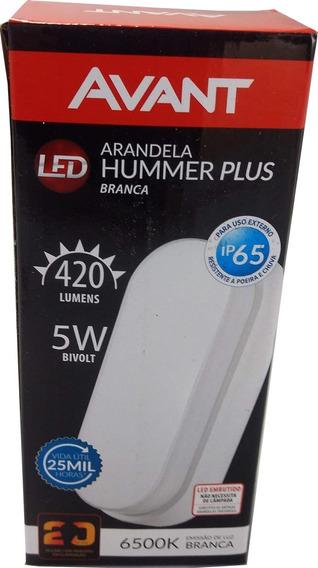 Arandela Hummer Led Oval Sobrepor Blindada 5w 6500k Ip65