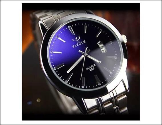 Relógio Yazole Masculino Com Data,pulseira Aço