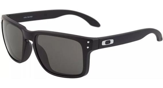 Oculos De Sol Holbrook Preto Prata Cx Marrom Polarizado 12x