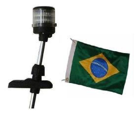 Luz De Popa Mastro De Alcançado 12 V Com Bandeira Do Brasil