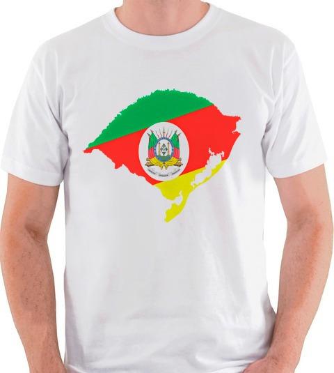 Camiseta Mapa Rio Grande Do Sul Bandeira Camisa Blusa