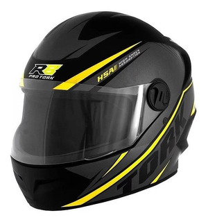 Capacete para moto integral Pro Tork R8 preto/amarelo M