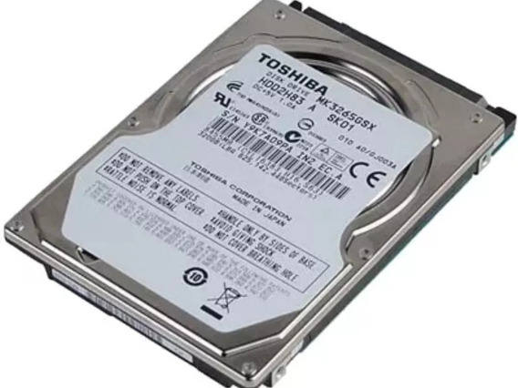 Disco Duro 2.5 Laptop Dvr Toshiba 160 Gb 5400 Rpm Usado