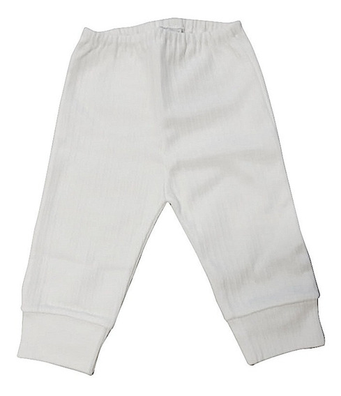 Pantalon Bebe Interlock Liso Desagujado Con Puño 100% Algod