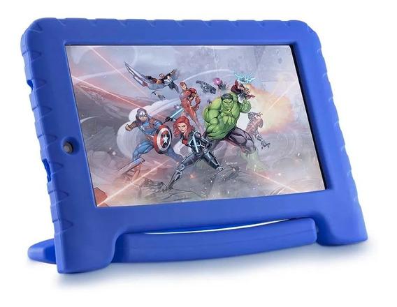 Tablet Para Criança Infantil Multilaser Kids Vingadores Azul