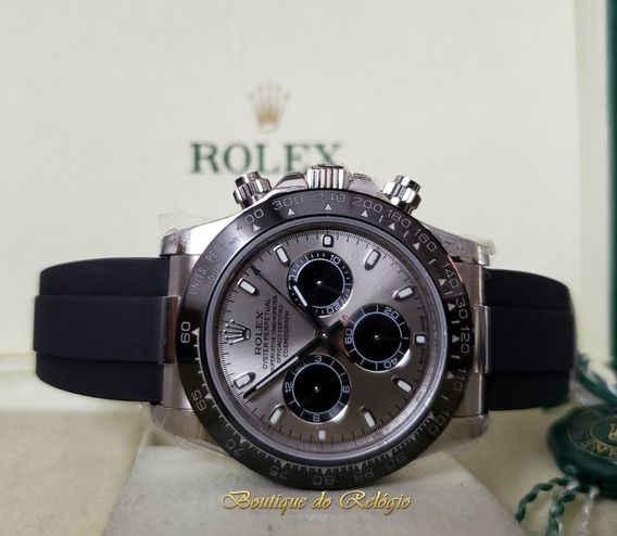 Relógio Eta - Sa4130 Daytona Grey Pulseira Borracha - Jh