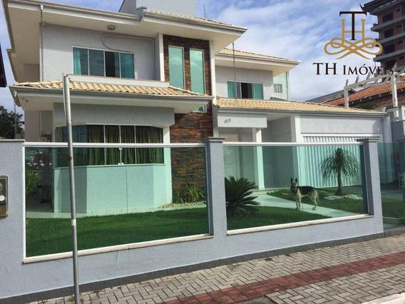 Casa Com 3 Dormitórios Para Alugar, 400 M² Por R$ 1.500/dia - Balneário Santa Clara - Praia Brava, Itajaí/sc - Ca0082