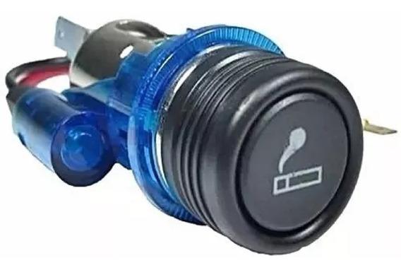 Acendedor De Cigarro Automotivo Universal Para Gps Led Azul