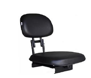 Cadeira Para Barco Giratória Estofada Dobrável (preta)