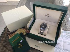 Rolex Gmt Master Ii Preto Automático Com Caixa E Documentos