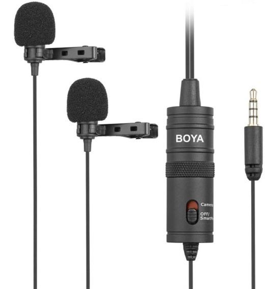Lapela Duplo Para Câmeras, Smartphones E Tablets - Boya M1dm