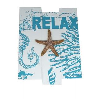 Quadro Decorativo - Madeira E Resina - Estrela Do Mar- Relax