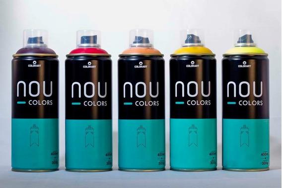 5x Tinta Spray Nou Colors Arte Urbana 400ml *escolha*