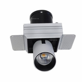 Kit 9 Spot Led 12w Decoracao Arq Luxo Recuado Fundo Preto