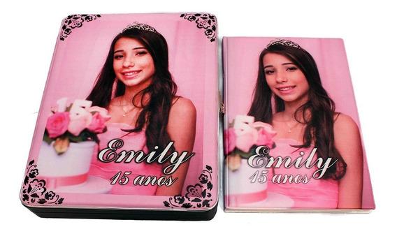 Álbum De Fotografias Personalizado Aniversário 15 Anos 15x21 100 Fotos