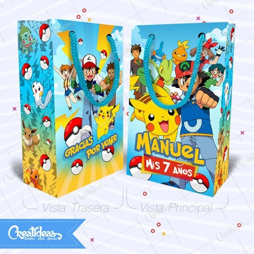 Pokemon Pikachu Bolsitas Golosineras Personalizadas Pack X30