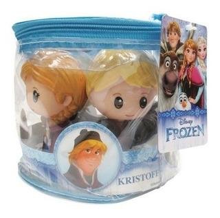 Frozen Kit 5 Muñecos Elsa Anna Olaf + Bolso Simil Funko Pop