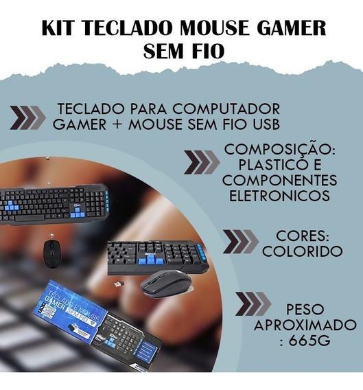 Wireless Kit Teclado Mouse Gamer Sem Fio Pc Acessório Número