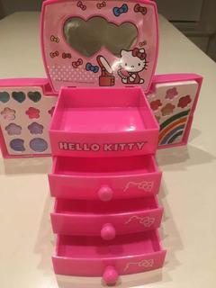 Hello Kitty Caja Organizadora Alajero Con 4 Cajones Pinturas