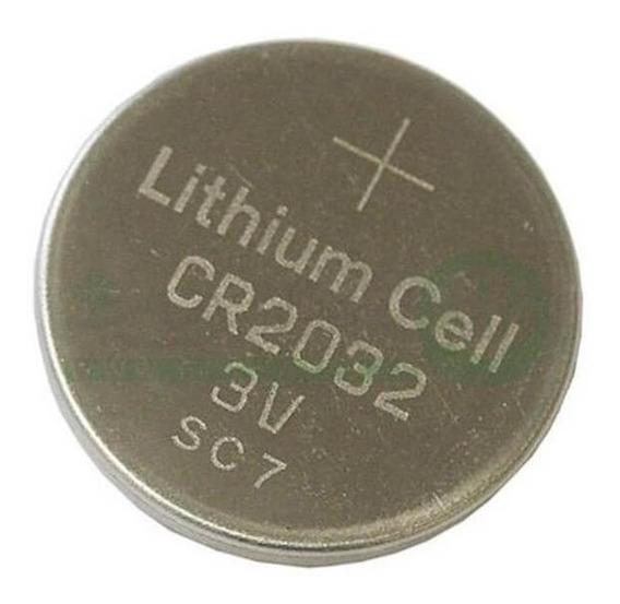 10 Bateria Lithium Cr2032 3v Controle Alarme Carro Placa Mãe