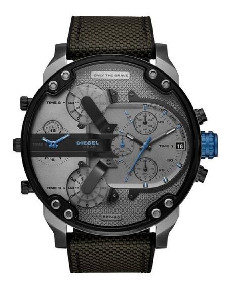 Relógio Diesel Masculino Mr. Daddy Dz7420/8cn Blue Cronograf