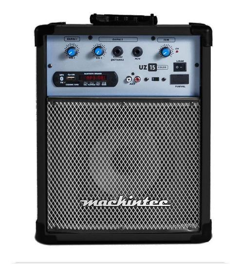 Caixa De Som Mackintec Amplificada Uz 15 Usb Bluetoohth Fm