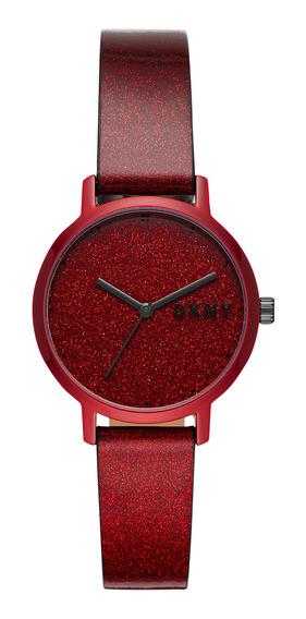 Reloj De Pulso Dama The Modernist Dkny Ny2860 Color Rojo