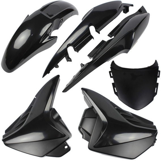 Kit Carenagem Honda Cg 150 Titan Fan 2009 A 2013 Preto