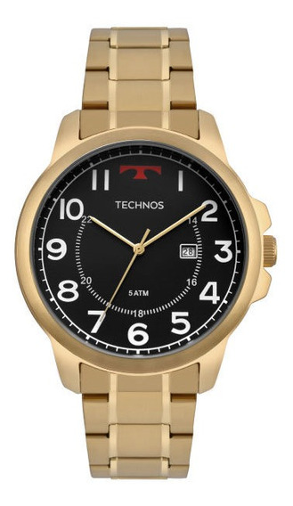 Relógio Technos Dourado/preto Masculino 2115mpa4po