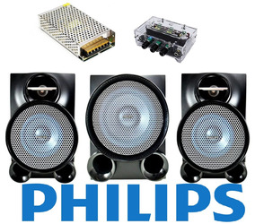 Caixas Som Original Philips Fwm653+ Amplificador Digital 2.1