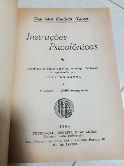 Livro Instruções Psicofônicas Chico Xavier (1ª Edição) 1956