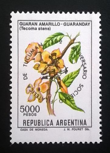 Argentina Flores Sello Gj 2049 Resell Tucumán 82 Mint L11115