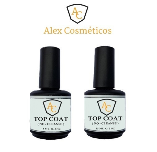 1 Top Coata Alex Uv Selante Brilho P/ Unha Acrygel Porcelana