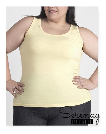 Musculosas Tira Ancha Modal Talles Especiales Pack X 3