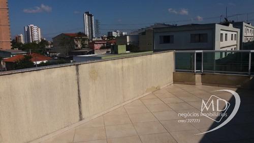 Imagem 1 de 25 de Locação Cobertura Santo Andre Campestre Ref: 8729 - 1033-8729